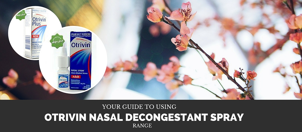 Using Otrivin Nasal Decongestant Sprays