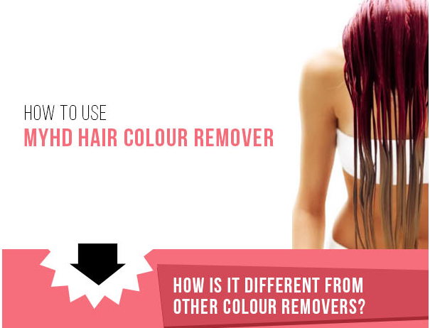 How to use MYHD Hair Colour Remover