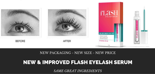 Flash Eyelash Serum – New Size, New Price, New Packaging