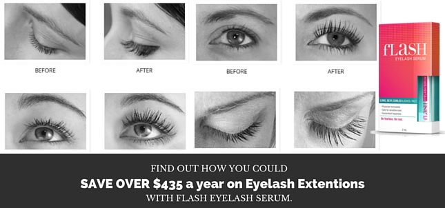 Save over $435 on eyelash extensions a year with Flash Eyelash Serum