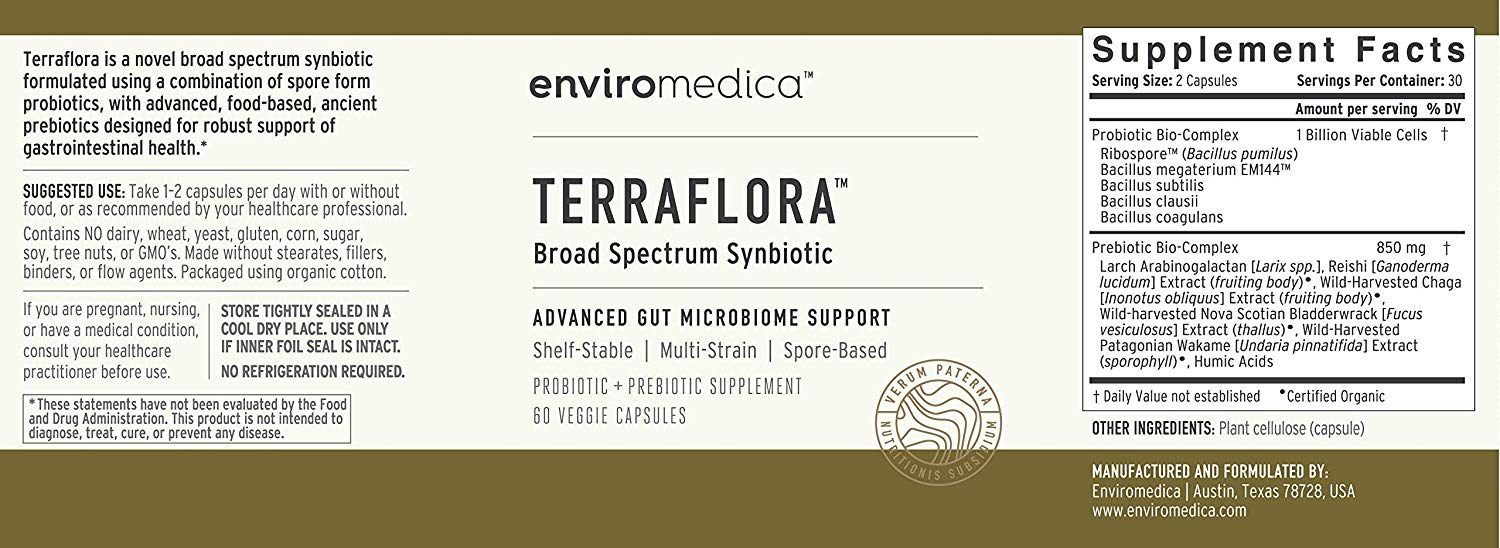 terraflora probiotic lable
