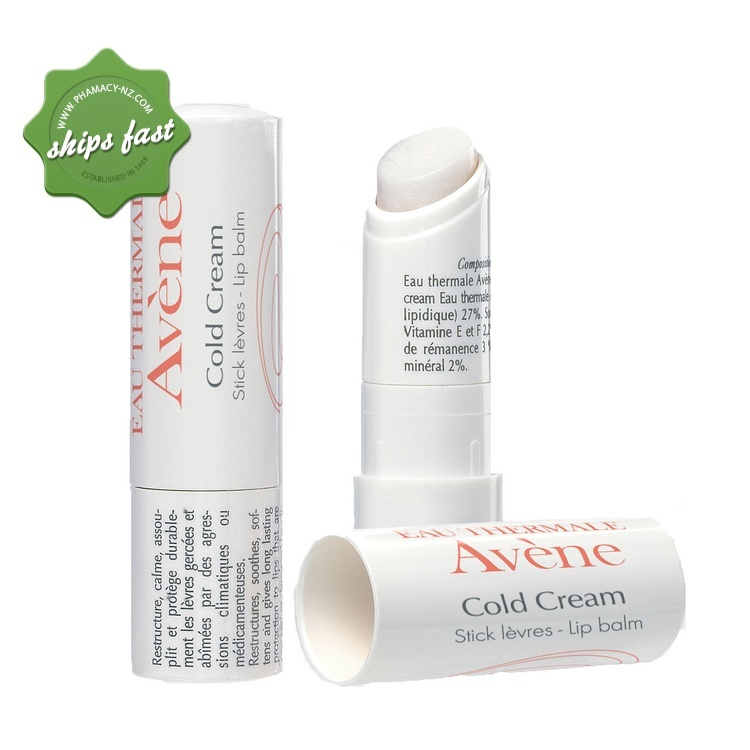 AVENE LIP BALM with COLD CREAM 4 5G (Special buy online only)