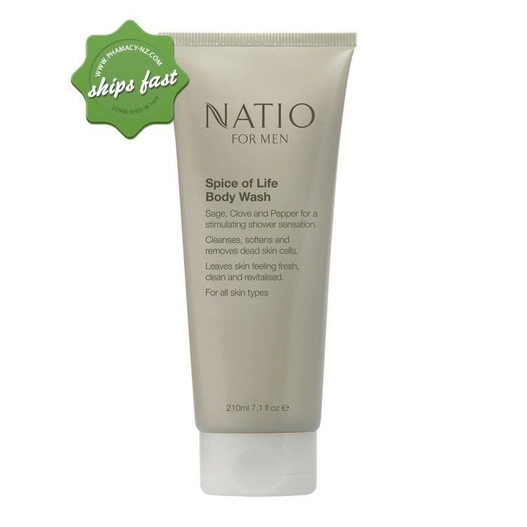 NATIO MENS SPICE OF LIFE BODY WASH 210ML (Special buy online only)