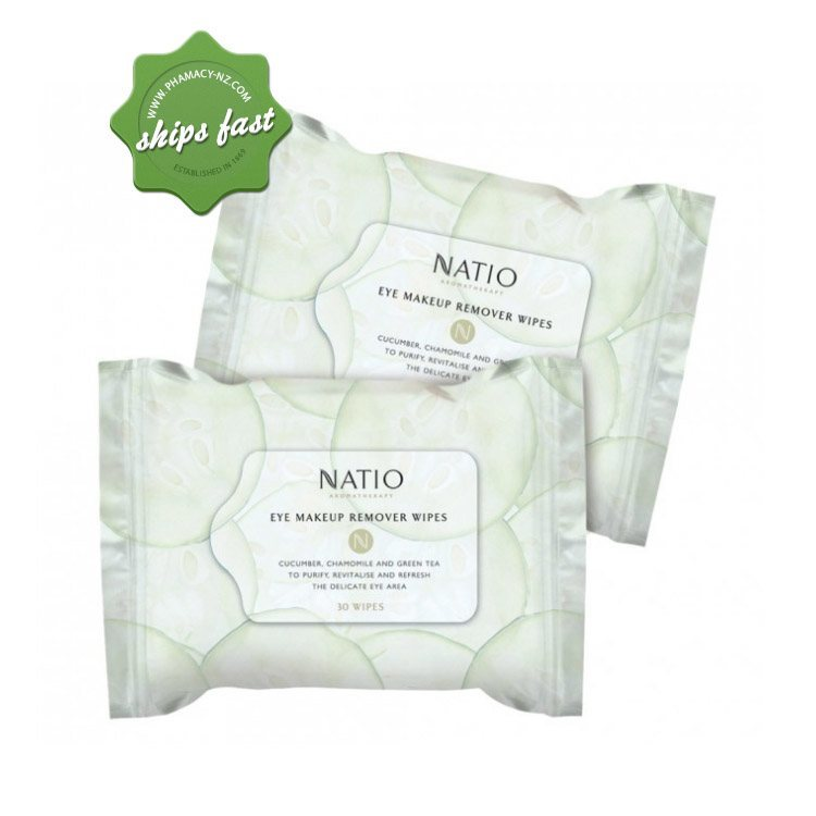NATIO EYE MAKEUP REMOVER WIPES (Special buy online only)