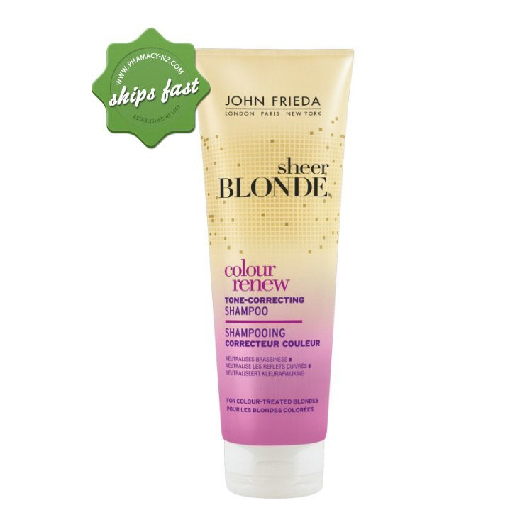 JOHN FRIEDA SHEER BLONDE COLOUR RENEW TONE CORREECTING SHAMPOO (Special buy online only)