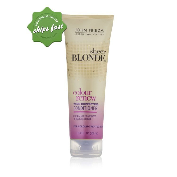 JOHN FRIEDA SHEER BLONDE COLOUR RENEW TONE CORRECTING CONDITIONER (Special buy online only)