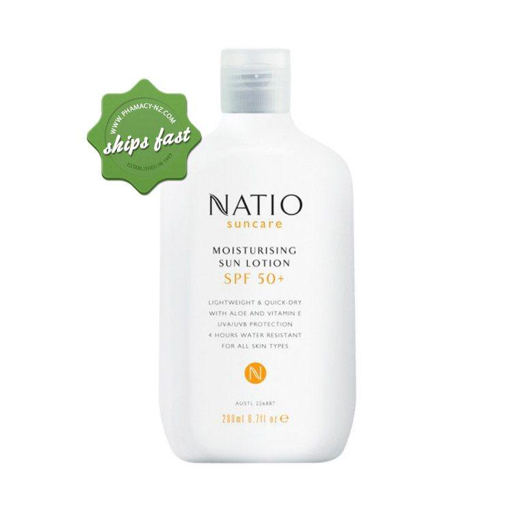 Buy Natio Suncare Moisturizing Sun Lotion SPF50 200ml - Ships fast    Pharmacy NZ