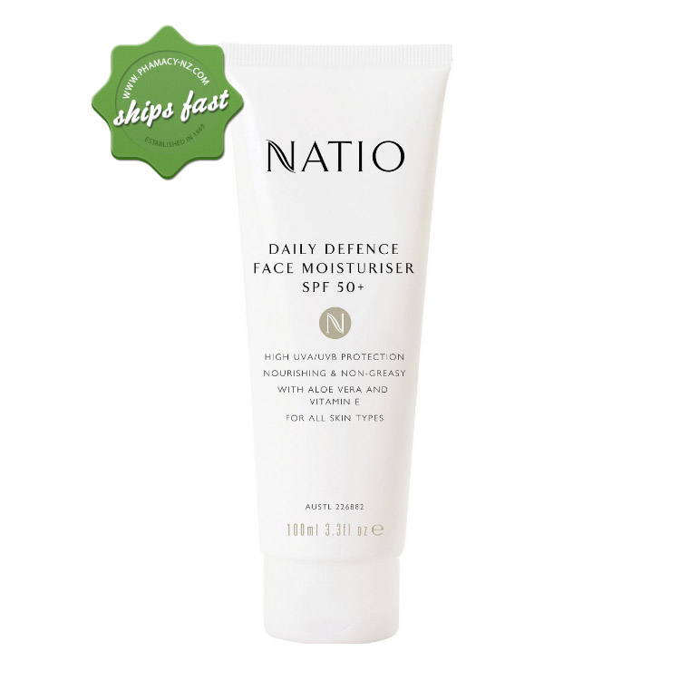 NATIO DAILY DEFENCE MOISTURISER SPF 50 PLUS 100ML (Special buy online only)