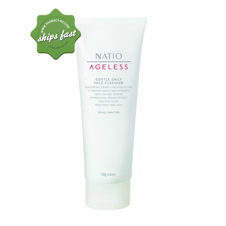 NATIO AGELESS GENTLE DAILY FACE CLEANSER 100G (Special buy online only)