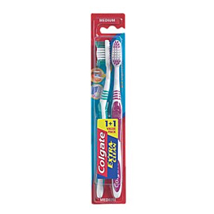 COLGATE T BRUSH EXTRA CLEAN TWIN PACK