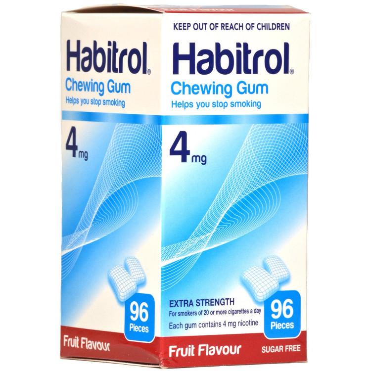 HABITROL GUM FRUIT 4MG 96