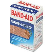 BANDAID TOUGH STRIPS REG 20