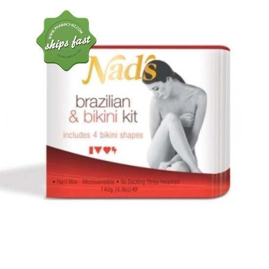 NADS BRAZILIAN AND BIKINI WAX KIT WITH SHAPES