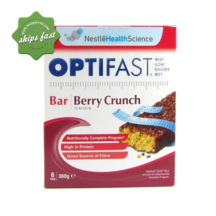 OPTIFAST BARS BERRY CRUNCH 6 PACK