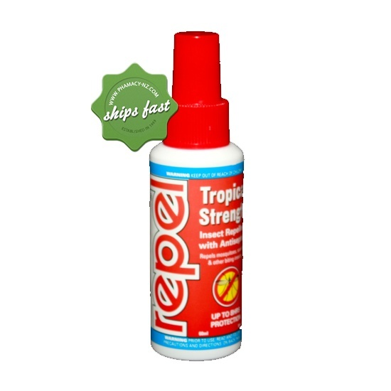 REPEL TROPICAL STRENGTH INSECT REPELLENT SPRAY 60ML