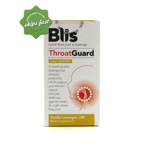 BLIS K12 THROAT GUARD DAILY SUPPORT 30 VANILLA LOZENGES