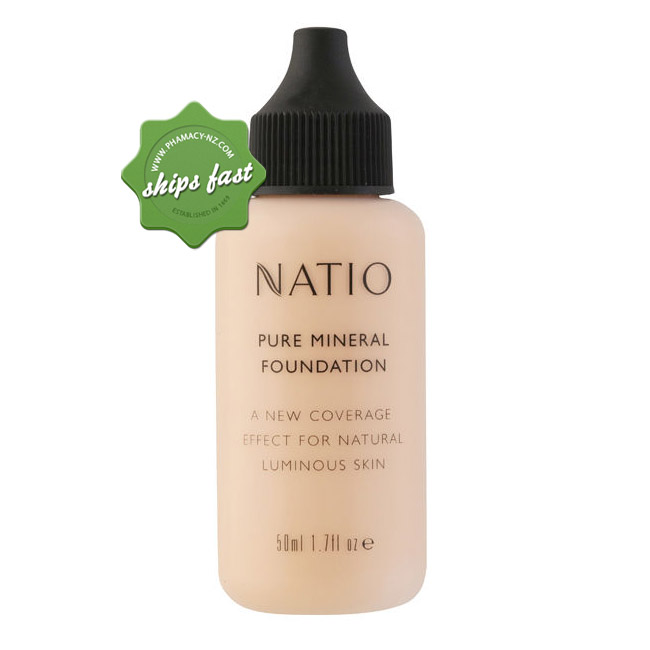 NATIO PURE MINERAL FOUNDATION MEDIUM TAN 50ML (Special buy online only)