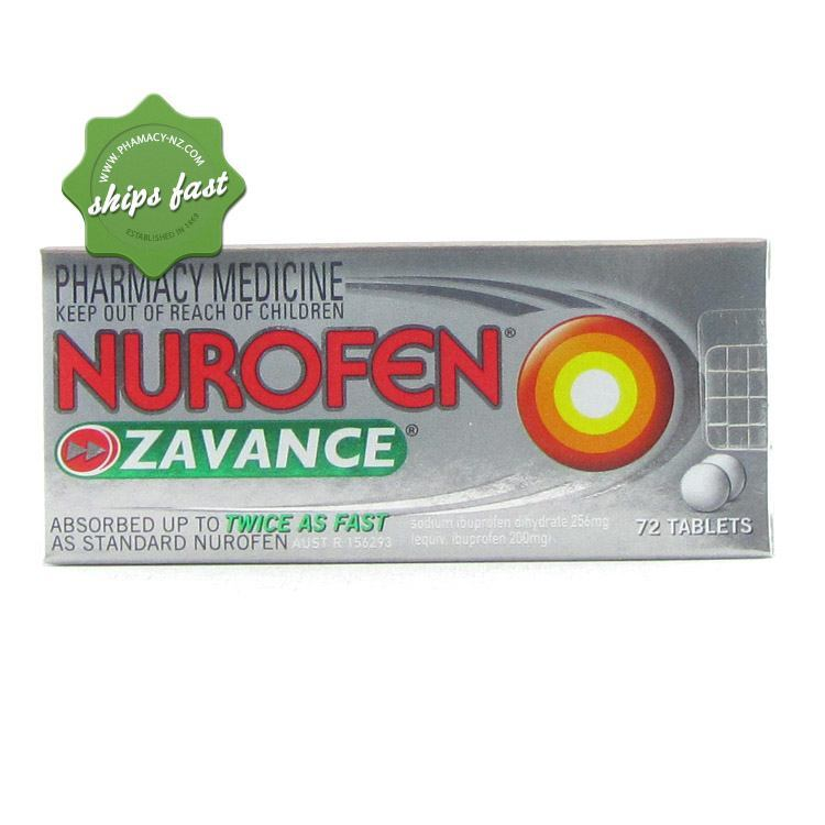 NUROFEN ZAVANCE TABLETS 72s