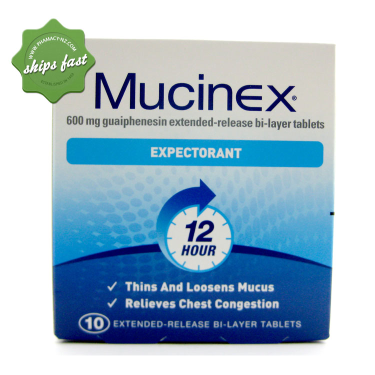 MUCINEX EXPECTORANT 12 HR TABLETS 10s