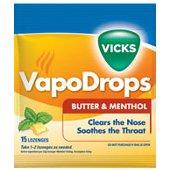 VICKS VAPO DROPS BUTTER MENTHOL 24s
