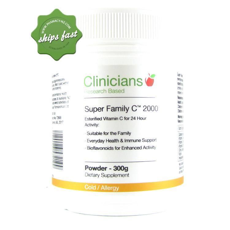 CLINICIANS SUPER FAMILY C 2000 POWDER 300G