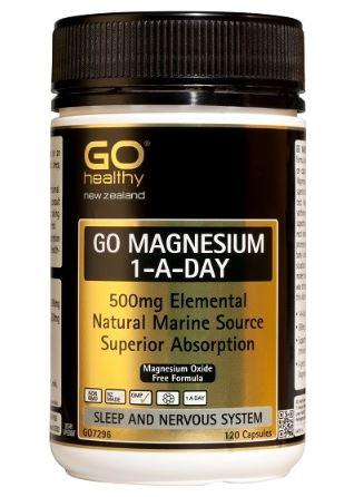 GO HEALTHY MAGNESIUM 1 A DAY 500MG 120 CAPS