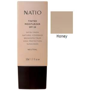 NATIO TINTED MOISTURIZER SPF 20 HONEY (Special buy online only)