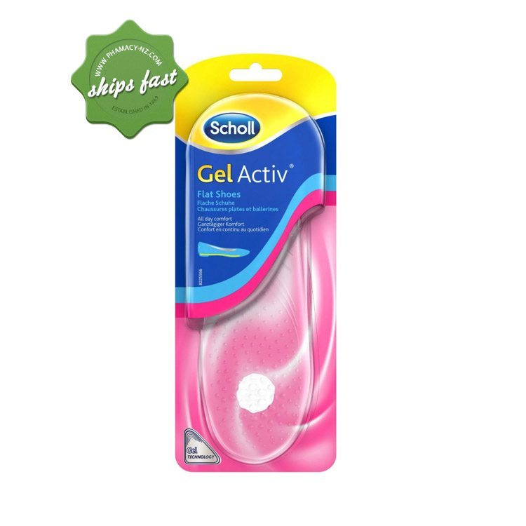 SCHOLL INSOLES GEL ACTIVE FLAT SHOES