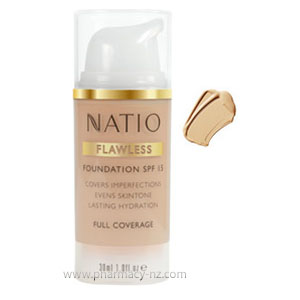 NATIO FLAWLESS FOUNDATION SPF 15 LIGHT HONEY (Special buy online only)