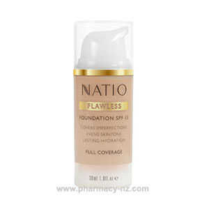 NATIO FLAWLESS FOUNDATION SPF 15 MEDIUM (Special buy online only)