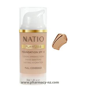 NATIO FLAWLESS FOUNDATION SPF 15 MEDIUM TAN (Special buy online only)