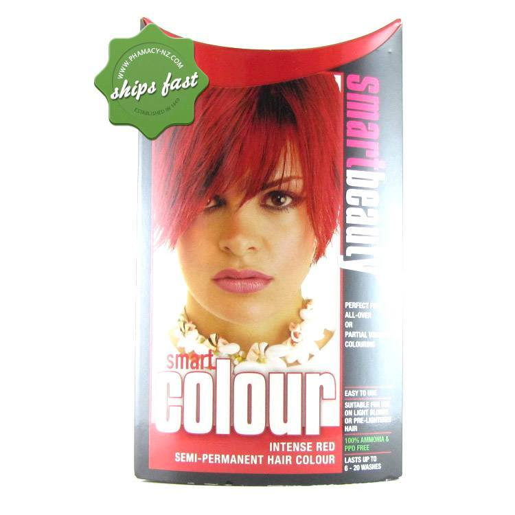 SMART COLOUR SEMI PERMANENT INTENSE RED HAIR COLOUR (Special buy online only)