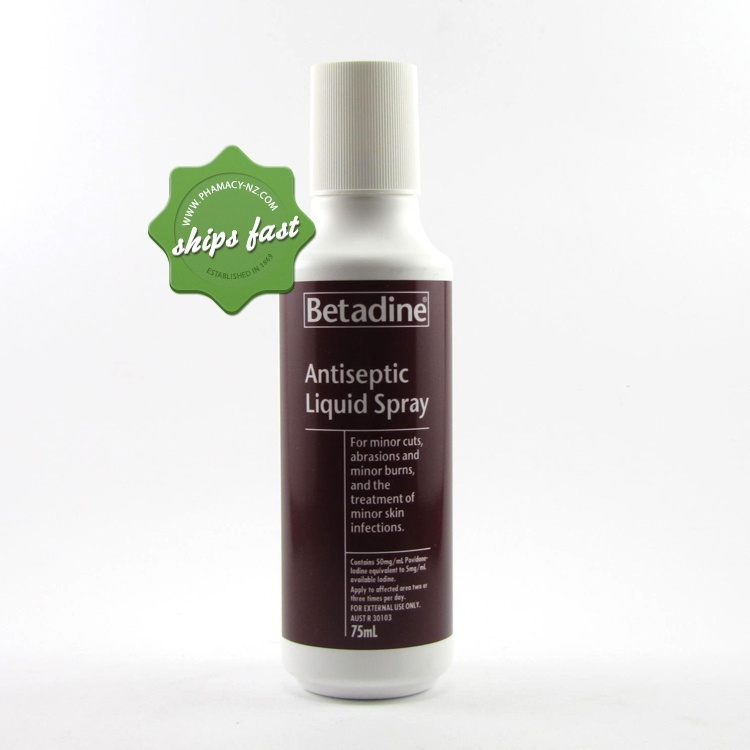 BETADINE ANTISEPTIC SPRAY 5 PERCENT 75ML
