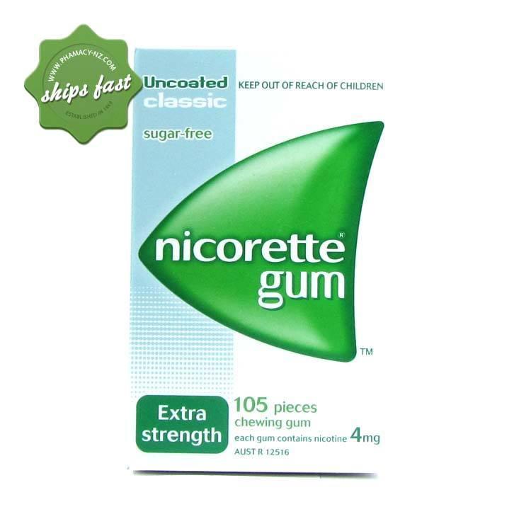 NICORETTE 4MG CLASSIC GUM EX 105