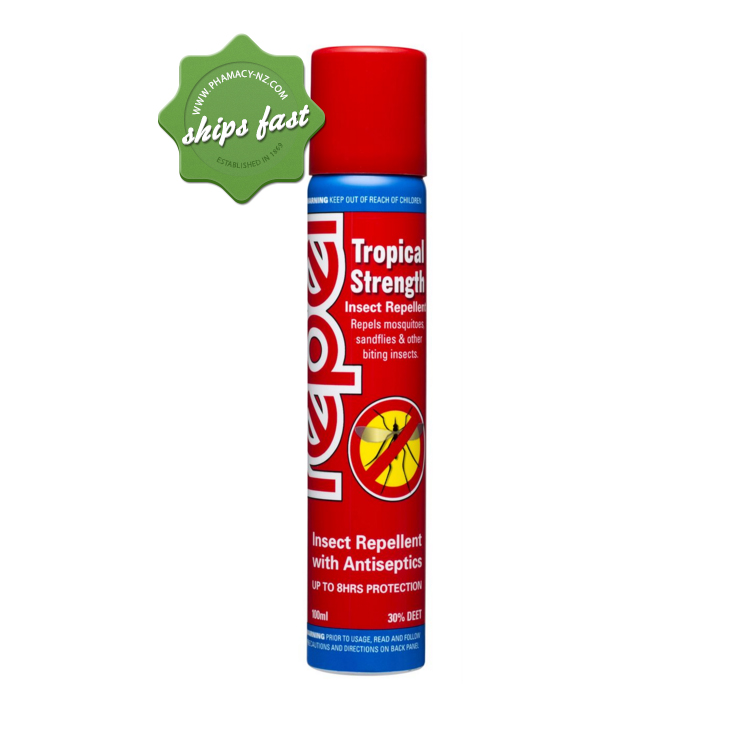 REPEL TROPICAL INSECT REPELLENT SPRAY 100ml (Special buy online only)