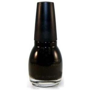 SINFUL COLORS NAIL ENAMEL BLACK ON BLACK (Special buy online only)