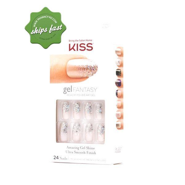 KISS NAILS GEL FANTASY FANCIFUL KGN01 24 NAILS