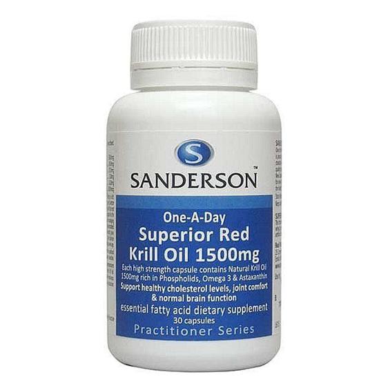 SANDERSON SUPERIOR RED KRILL OIL 1500MG 30 CAPS