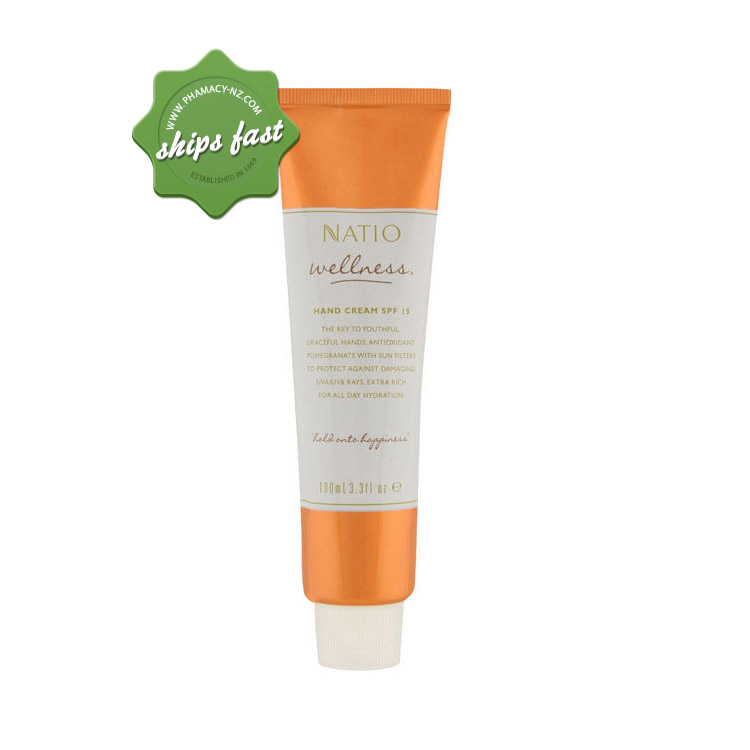 NATIO WELLNESS HAND CREAM SPF 15 (Special buy online only)