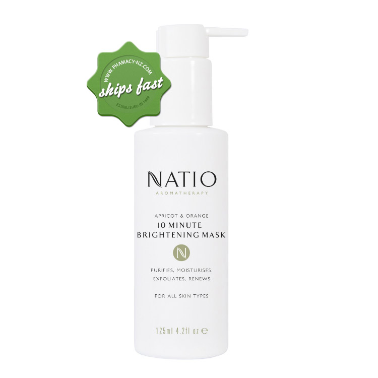 NATIO APRICOT AND ORANGE 10 MINUTES BRIGHTENING MASK 125ML (Special buy online only)