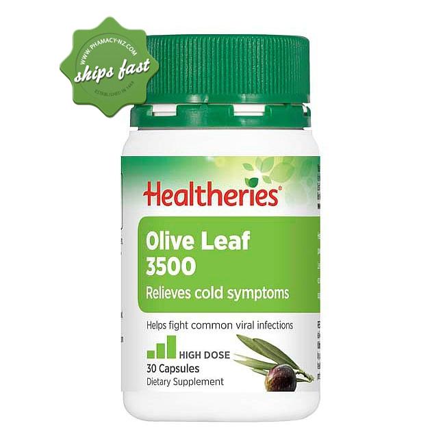 HEALTHERIES OLIVE LEAF 3500 30 TABLETS