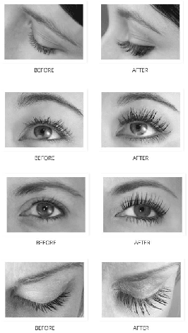 Flash Eyelash Serum Before and After