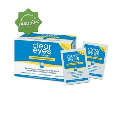 CLEAR EYES BY MURINE GENTLE CLEANSING WIPES EACH X30