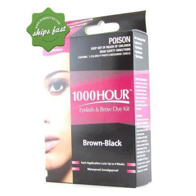 1000 HOUR EYELASH AND BROW DYE BLACK BROWN