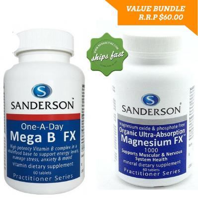 SANDERSON STRESS BUSTER TWIN PACK WITH MEGA B FX AND MAGNESIUM FX