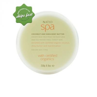 NATIO SPA COCONUT AND SHEA BODDY BUTTER 250ML (Special buy online only)