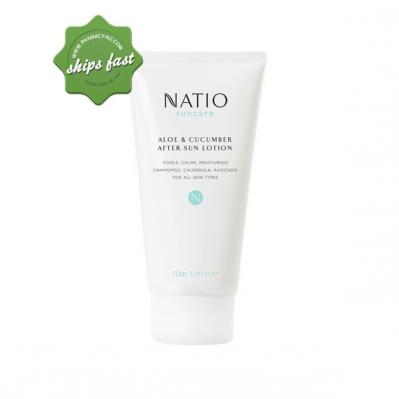NATIO SUNCARE ALOE AND CUCUMBER AFTER SUN LOTION 150ML (Special buy online only)