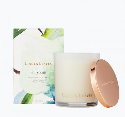Linden Leaves In Bloom Fragranced Candle Green Verbena 285g