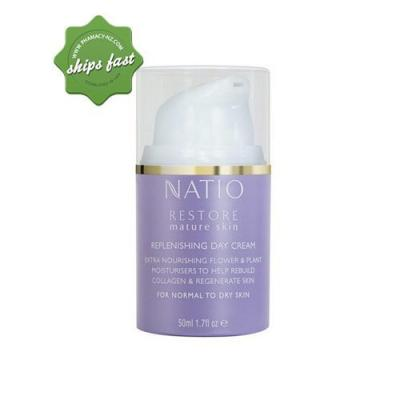 NATIO RESTORE MATURE SKIN REPLENISHING DAY CREAM 50ML (Special buy online only)