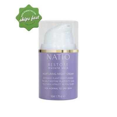 NATIO RESTORE MATURE SKIN NURTURING NIGHT CREAM 50ML (Special buy online only)